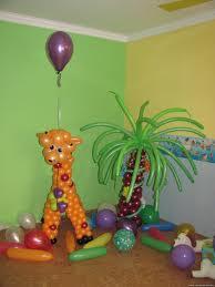 Жираф и пальма из шаров