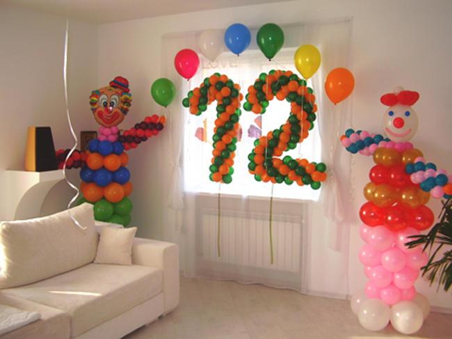 Как украсить комнату шарами на детский день рождения: фото идеи