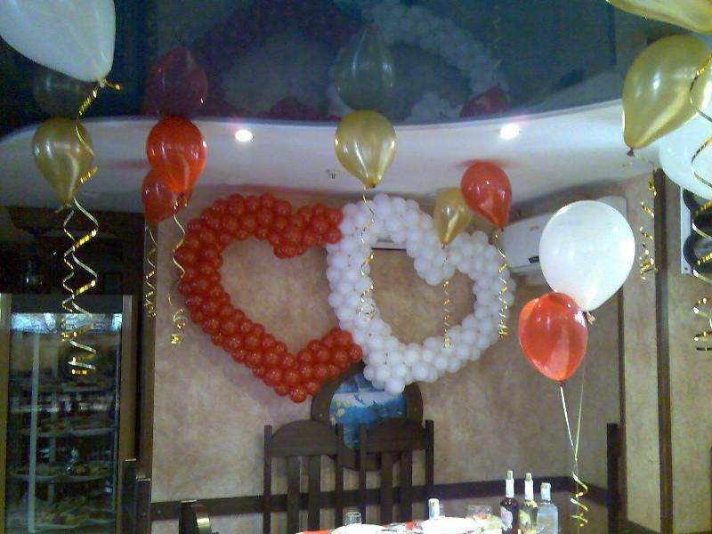 Украшение свадьбы воздушными шарами: фото примеры