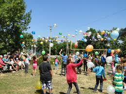Подвижные игры с воздушными шарами
