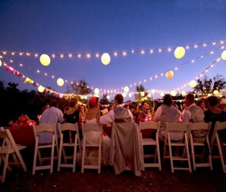 Праздничное оформление свадьбы на природе
